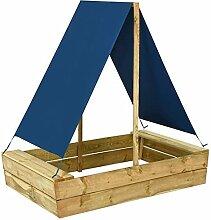 Tidyard Sandkasten mit Dach, Spielhaus mit