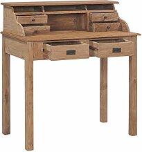 Tidyard Schreibtisch 90×50×100 cm Massivholz