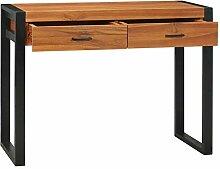 Tidyard Schreibtisch mit 2 Schubladen & schwarzen