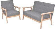 Tidyard Sofa Garnituren 2-TLG. Stoffsofa Set