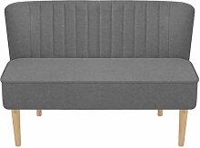 Tidyard Sofa Stoff 117 x 55,5 x 77 cm Hellgrau