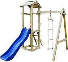 Tidyard Spielturm mit Rutsche und Leitern 237 x