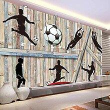 Tief Geprägte 3D Holzklotz Fußball Spielen