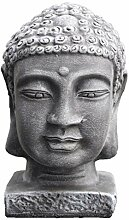 Tiefes Kunsthandwerk Buddha Kopf groß -