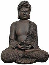 Tiefes Kunsthandwerk Buddha sitzend - Dunkelbraun,