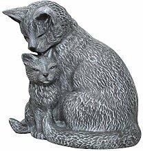 Tiefes Kunsthandwerk Stein-figur Katze mit