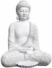 Tiefes Kunsthandwerk Steinfigur Buddha sitzend -