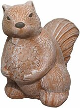 Tiefes Kunsthandwerk Steinfigur Eichhörnchen