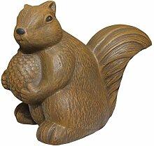 Tiefes Kunsthandwerk Steinfigur Eichhörnchen -
