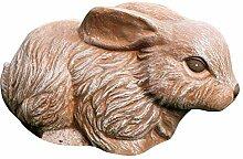 Tiefes Kunsthandwerk Steinfigur Hase in