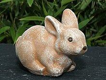 Tiefes Kunsthandwerk Steinfigur Hase klein in
