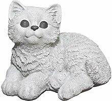 Tiefes Kunsthandwerk Steinfigur Katze sitzend -
