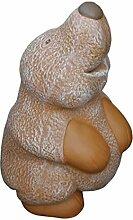 Tiefes Kunsthandwerk Steinfigur Maulwurf groß -