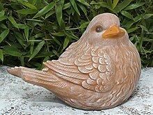 Tiefes Kunsthandwerk Steinfigur Vogel Terrakotta,