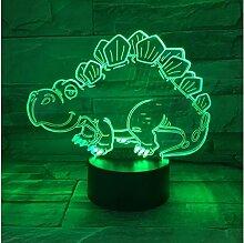 Tier Dinosaurier 3D Acryl Nachtlicht Usb Schlaf