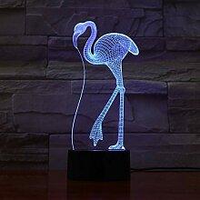 Tier Flamingo 3D LED Nachtlicht, 3D Optische