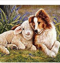 Tier Hund Schafe 5D Diy Diamant Malerei Kreuzstich