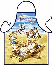 Tier-Motiv-Fun/Spaß-Grill/Kochschürze/ Thema Katzen: Kätzchen - inkl. Spaß-Urkunde