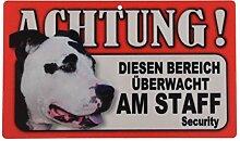 Tier-Warn-Schild für Innen und Außen American Staffordshire Terrier