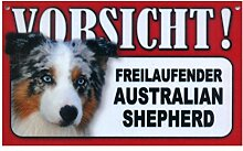 Tier-Warn-Schild für Innen und Außen Australian Shepherd