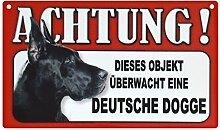 Tier-Warn-Schild für Innen und Außen Deutsche Dogge