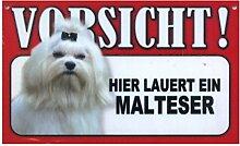 Tier-Warn-Schild für Innen und Außen Malteser