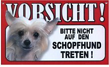 Tier-Warn-Schild für Innen und Außen Schopfhund