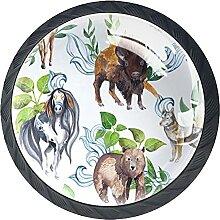 Tiere und Pflanzen, Knöpfe Illustration Harz