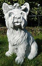 Tierfigur Beton Figur Hund Yorkshire Terrier