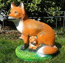 Tierfigur Figur Dekorationsfigur Fuchs mit Kleinen