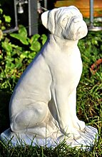 Tierfigur Gartenfigur Deko Figur Boxer H 32 cm