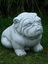 Tierfigur Gartenfigur Deko Figur Hund Bulldogge H