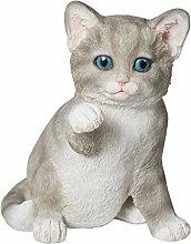 Tierfigur Katze Höhe 14 cm Skulptur Deko-Katze