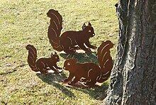Tierfigur Skulptur Eichhörnchen Rostig Metall 46