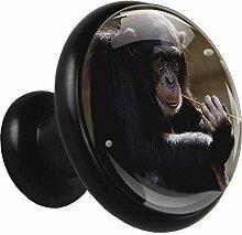 Tierischer schwarzer Gorilla Schwarz 4