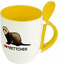 Tiertasse Frettchen - Löffel-Tasse mit Tierbild