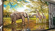 Tierwelt dekorative Tapete benutzerdefinierte