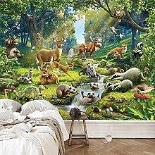 Tierwelt Kinderzimmer,Tapete Wandtattoo,3D-Tv