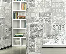TIEZ 3D Englisch Brief Wallpaper/Personalisierte