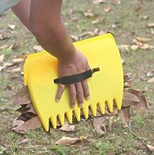 TIFANTI Leaf Schaufeln, große Hand Held Rechen, Sammeln Blätter, Gras, Rasen Stecklinge Schnell und einfach, sich Gärten leafhulk Claw Schuhspikes Schaufel Garten