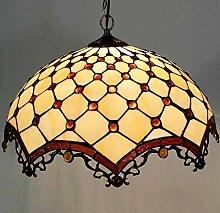 Tiffany-Art-Leuchter, LED-Buntglas-Pendelleuchten,