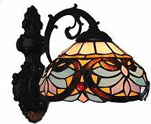 Tiffany-Art-Wandlampe, Buntglasdekoration