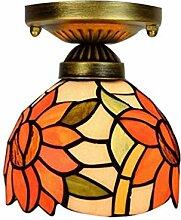 Tiffany Deckenleuchte Glasmalerei Dekoration