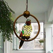 Tiffany Glasmalerei Kronleuchter Papagei Balkon Flur Flur Lichter Caf¨¦ Bars und Clubs in Villa