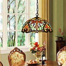 Tiffany Glasmalerei Kronleuchter Retro-Lampen 1