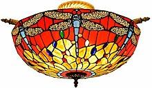 Tiffany-Lampe Dekoration 55CM kreative Red Tiffany