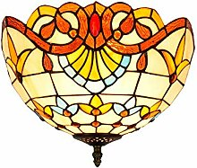 Tiffany-Lampe Dekoration Tiffany Barock, Gelb,