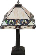Tiffany-Lampe im Jugendstil aus Glas und Messing