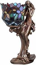 Tiffany Lampe Jugendstil Tischleuchte Frauenfigur