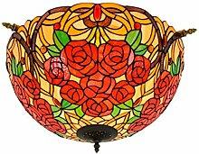 Tiffany-Lampe Schlafzimmer 50CM Kreative Rose